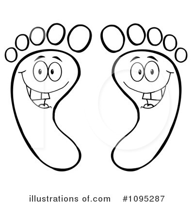 Feet Clipart #1095287 by Hit Toon