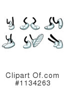 Royalty-Free (RF) Feet Clipart Illustration #1134263