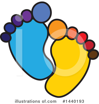 Feet Clipart #1440193 by ColorMagic