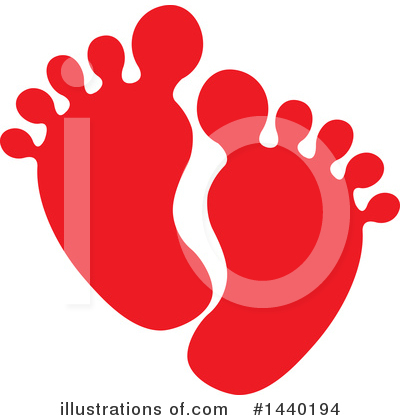 Feet Clipart #1440194 by ColorMagic