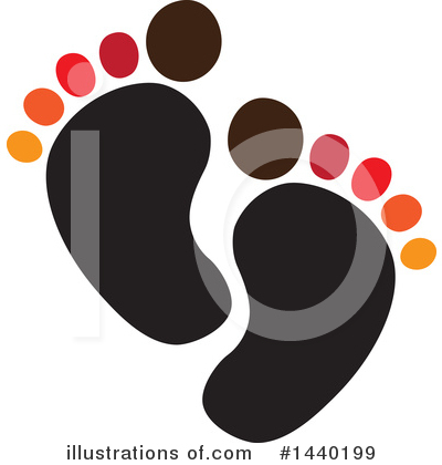 Feet Clipart #1440199 by ColorMagic
