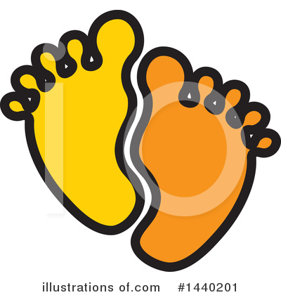 Feet Clipart #1440201 by ColorMagic
