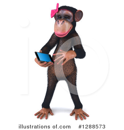 Female Chimp Clipart #1288573 by Julos