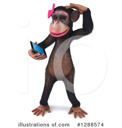 Female Chimp Clipart #1288574 by Julos