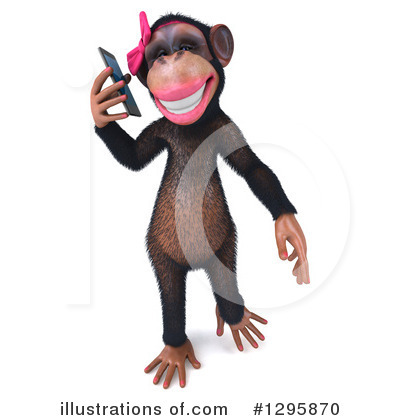 Female Chimp Clipart #1295870 by Julos