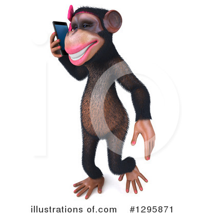 Female Chimp Clipart #1295871 by Julos