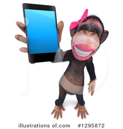 Female Chimp Clipart #1295872 by Julos
