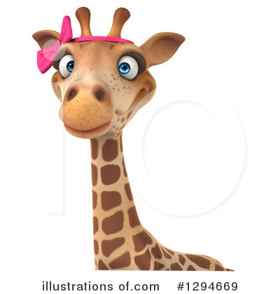 Female Giraffe Clipart #1294669 by Julos