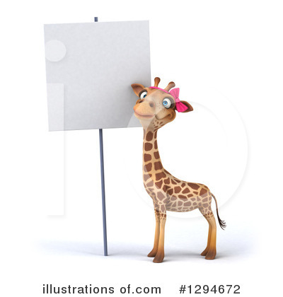 Female Giraffe Clipart #1294672 by Julos