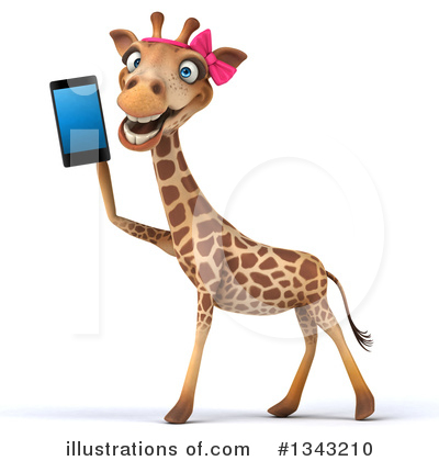 Female Giraffe Clipart #1343210 by Julos