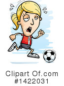 Female Soccer Player Clipart #1422031 by Cory Thoman