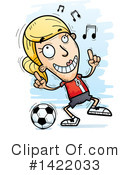 Female Soccer Player Clipart #1422033 by Cory Thoman