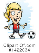 Female Soccer Player Clipart #1422034 by Cory Thoman