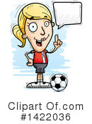 Female Soccer Player Clipart #1422036 by Cory Thoman