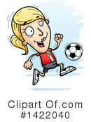 Female Soccer Player Clipart #1422040 by Cory Thoman
