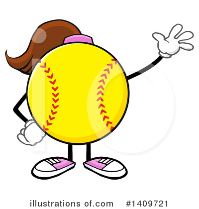 Softball Clipart #1409721 by Hit Toon