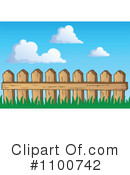 Royalty-Free (RF) Fence Clipart Illustration #1100742
