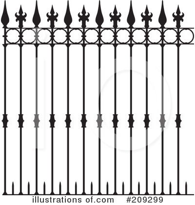 Royalty-Free (RF) Fence Clipart Illustration by Frisko - Stock Sample #209299