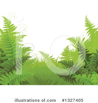 Ferns Clipart #1327405 by Pushkin