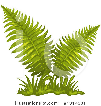 Ferns Clipart #1314301 by merlinul