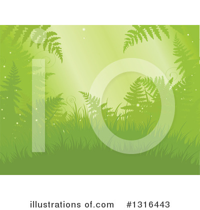 Royalty-Free (RF) Ferns Clipart Illustration by Pushkin - Stock Sample #1316443