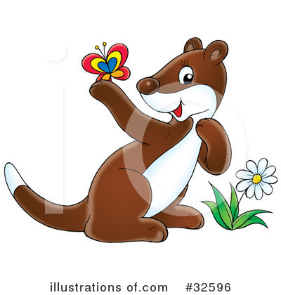 Weasel Clipart #32596 by Alex Bannykh
