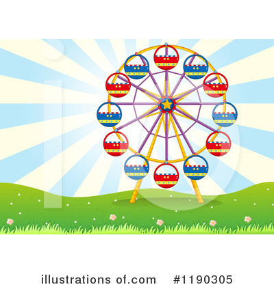 Amusement Park Clipart #1190305 by Graphics RF