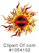 Royalty-Free (RF) Fiery Clipart Illustration #1054102