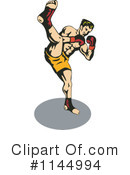 Royalty-Free (RF) Fighter Clipart Illustration #1144994