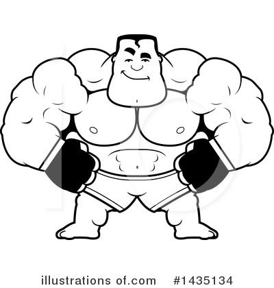Boxer Clipart #1435134 by Cory Thoman