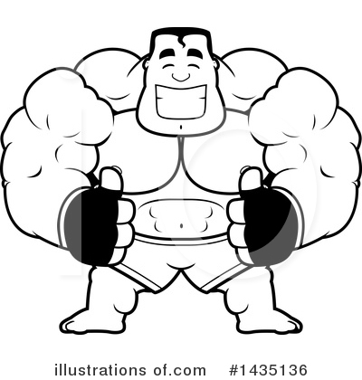 Boxer Clipart #1435136 by Cory Thoman