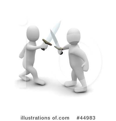 Sword Fight Clipart #44983 by Jiri Moucka