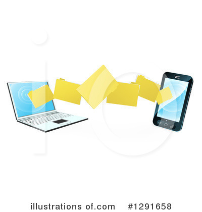 Laptop Clipart #1291658 by AtStockIllustration