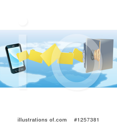 Cell Phone Clipart #1257381 by AtStockIllustration