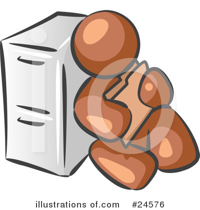Brown Collection Clipart #24576 by Leo Blanchette
