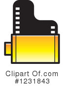 Film Clipart #1231843 by Lal Perera