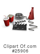 Royalty-Free (RF) Film Industry Clipart Illustration #25906
