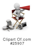 Royalty-Free (RF) Film Industry Clipart Illustration #25907