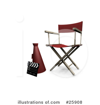 Directors Chair Clipart #25908 by KJ Pargeter
