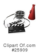 Royalty-Free (RF) Film Industry Clipart Illustration #25909