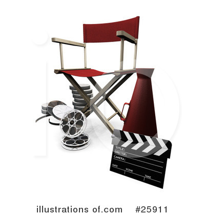 Directors Chair Clipart #25911 by KJ Pargeter