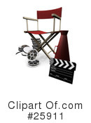 Royalty-Free (RF) Film Industry Clipart Illustration #25911