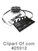 Royalty-Free (RF) Film Industry Clipart Illustration #25912