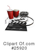 Royalty-Free (RF) Film Industry Clipart Illustration #25920