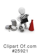 Royalty-Free (RF) Film Industry Clipart Illustration #25921