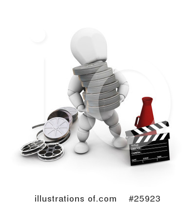 Clapperboard Clipart #25923 by KJ Pargeter