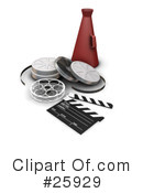 Royalty-Free (RF) Film Industry Clipart Illustration #25929