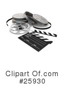 Royalty-Free (RF) Film Industry Clipart Illustration #25930