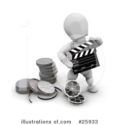 Clapperboard Clipart #25933 by KJ Pargeter