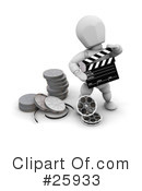 Royalty-Free (RF) Film Industry Clipart Illustration #25933